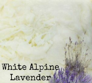 White Alpine Lavender Natural Handmade Soap VEGAN